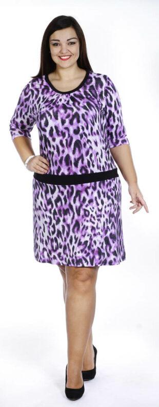 Leopárd nyári ruha plusz mérethez