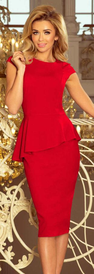 Piros elegáns ruha esküvői anya