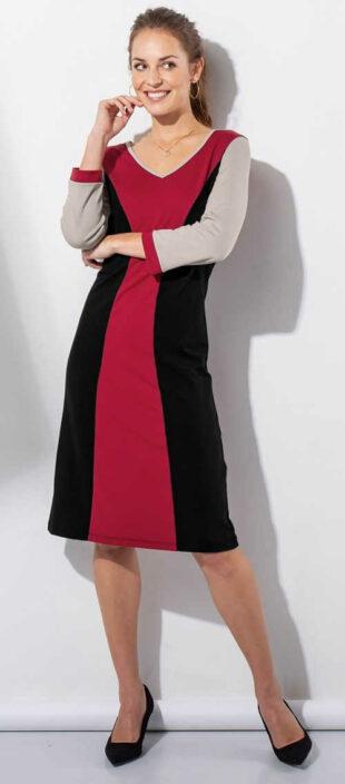Vasalás piros-fekete női ruha Blancheporte