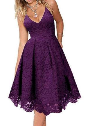 Elegáns ruha hivatalos alkalomra, lenyűgöző lila színben