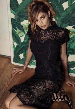 Fekete csipke estélyi ruha Inia