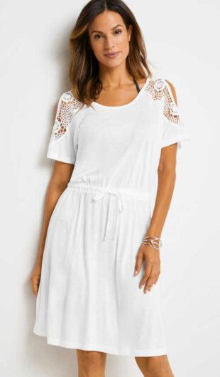 Kényelmes anyagból készült, modern szabású nyári ruha