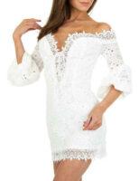 Női elegáns nyári mini ruha kifinomult szabásban