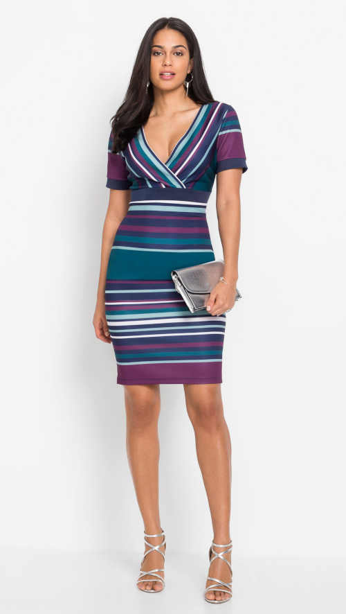 Modern mintás ruha Bonprix