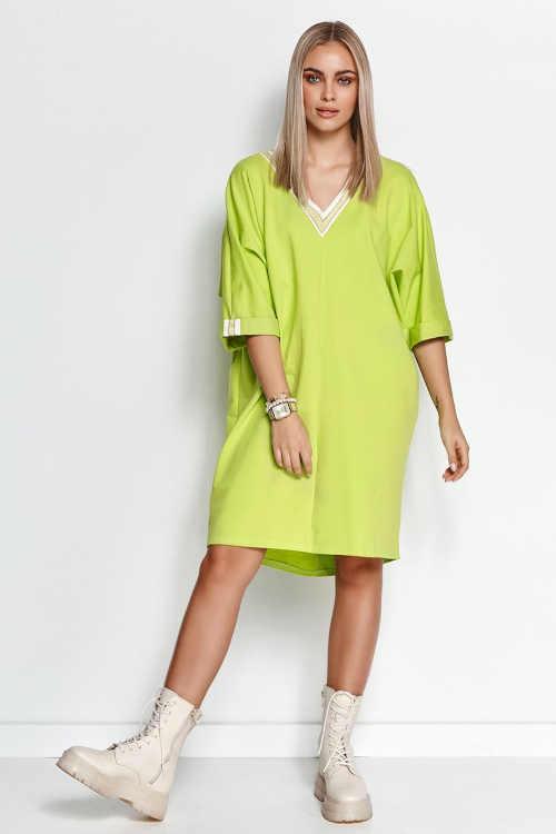 Lime pulóver ruha kiváló minőségű és kényelmes anyagból készült