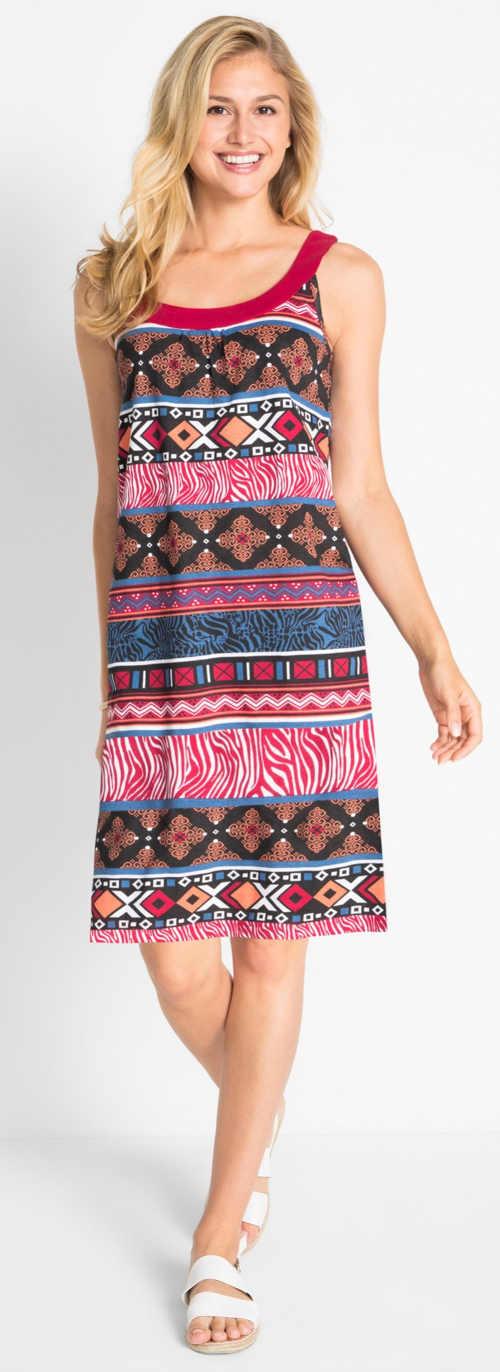 Olcsó nyári női ruha merész nyomtatással