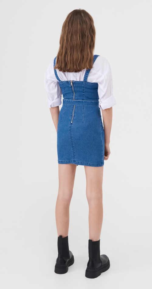 Rövid kék farmer ruha