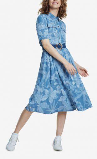 Stílusos női ing ruha övvel a Desigual-tól
