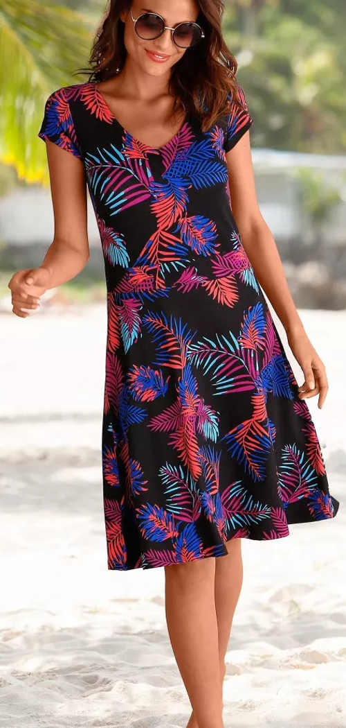 Virágos A-line női nyári ruhák eladó