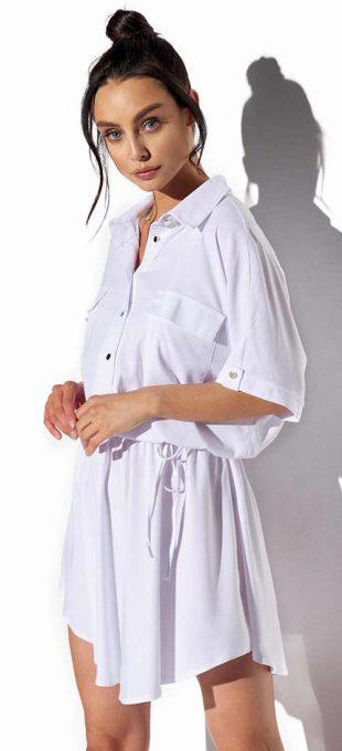 Fehér női ingruha elegáns és időtlen szabásban