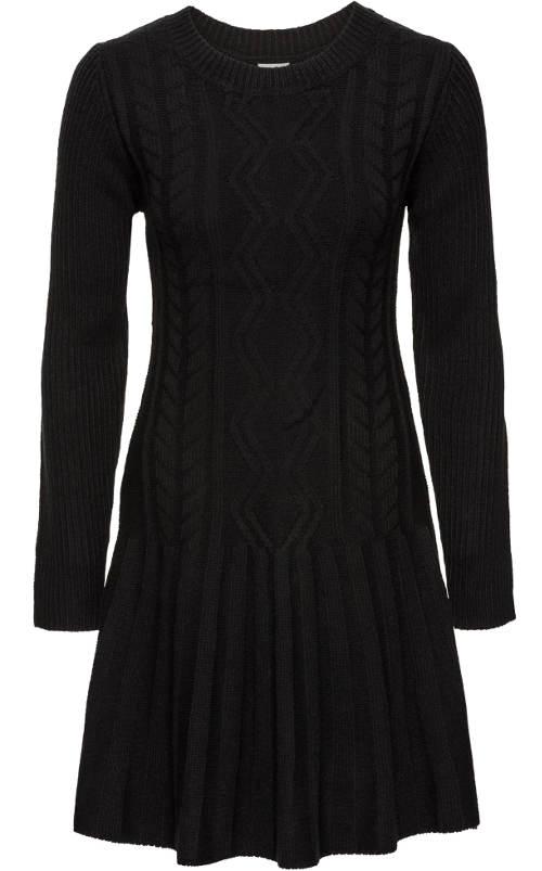 Fekete női pulóver ruha