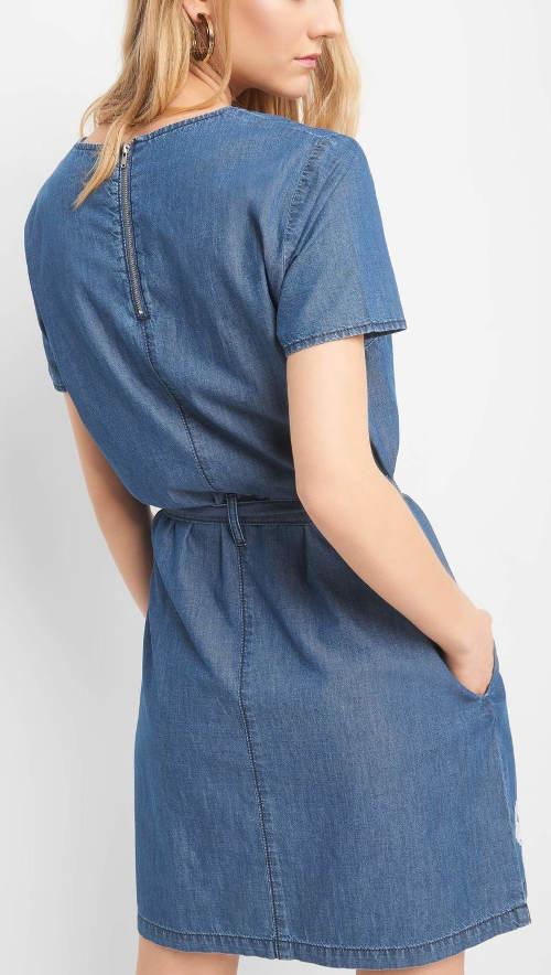 Kék farmer ruha Orsay