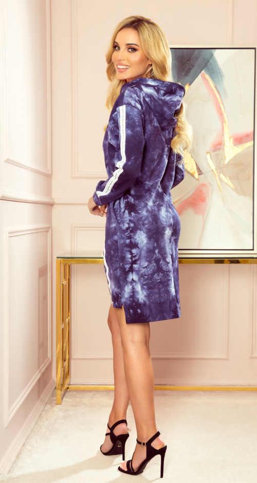 Kék rövid batikolt ruha