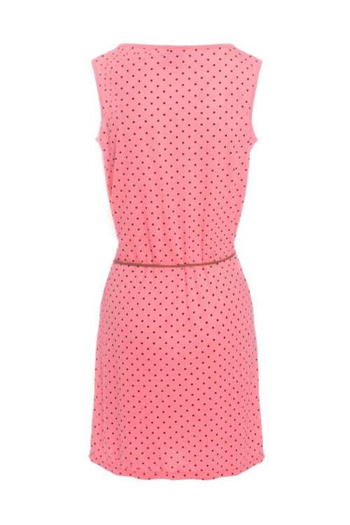 Női ruha rózsaszínben, modern pöttyökkel