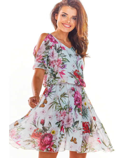Virágos rövid nyári ruha